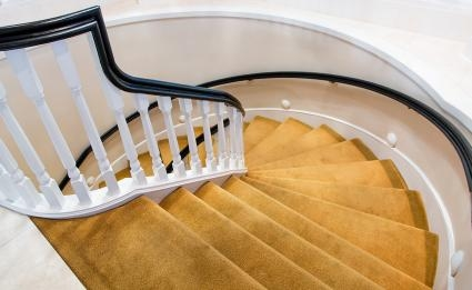 How To Choose The Best Carpet For Your Stairs Lovetoknow   High Traffic Stair Carpet   Family Room   Hard Wearing   Pattern   Unusual   Geometric