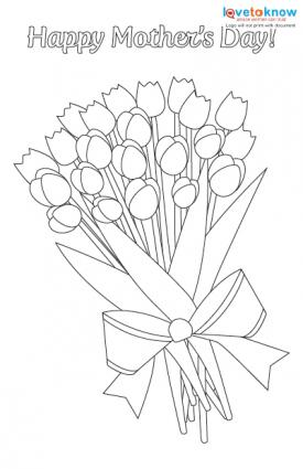 Mother's Day Cards for Kids to Color