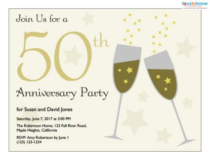 Anniversary Party Invitations Cards