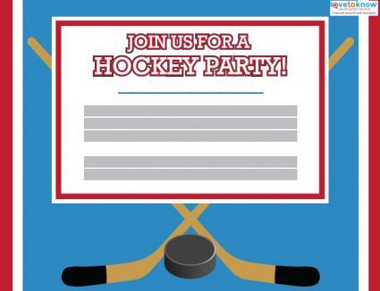 Printable Hockey Party Invitations LoveToKnow