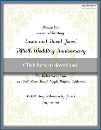 Printable 50th Anniversary Invitations