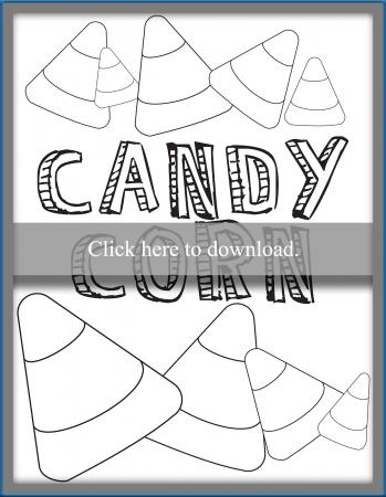 Candy Corn Coloring Pages Lovetoknow