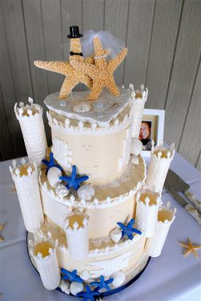 Sandcastle Wedding Cake LoveToKnow