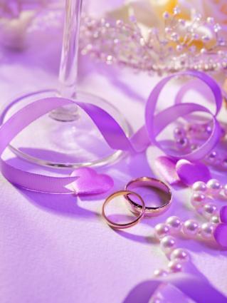 Lavender Spring Wedding Invitation Cards