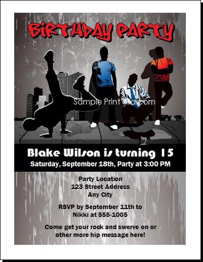 At Wedding Invitations Specialty Stationery Hip Hop Invitation