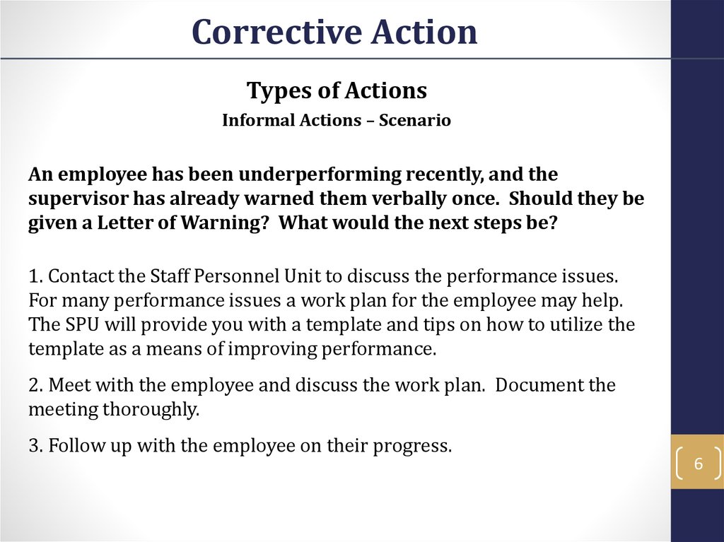 The action plan template below should be utilized as a guide in the. Corrective Action Prezentaciya Onlajn