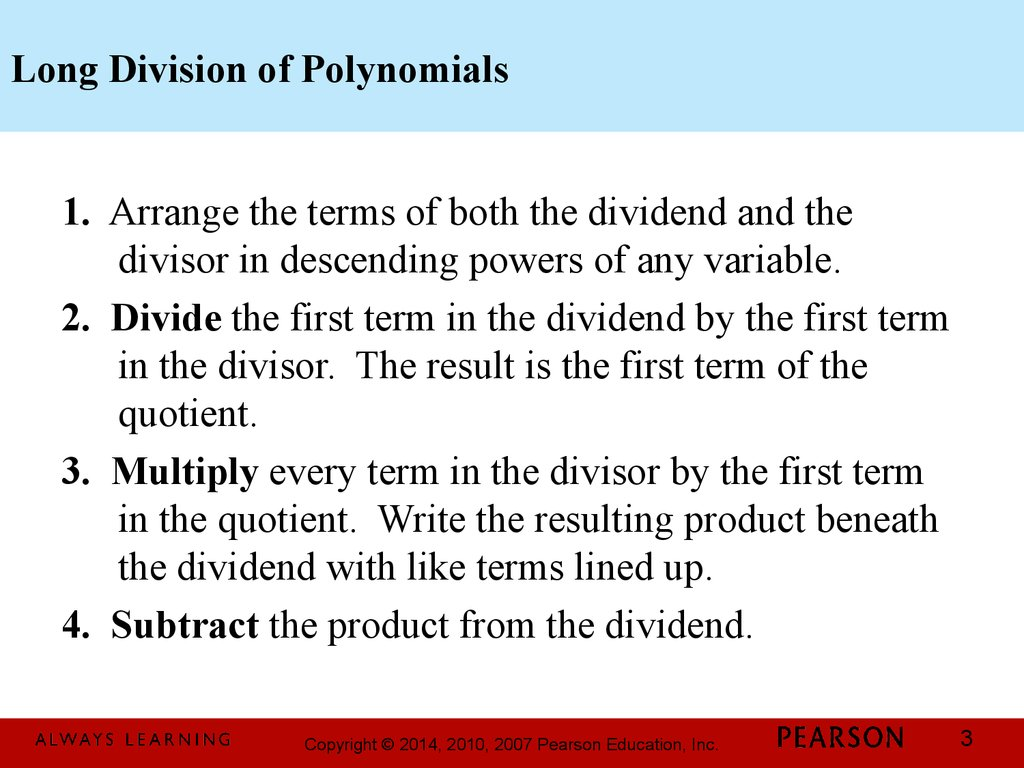 Chapter 1 Polynomial And Rational Functions 3 3