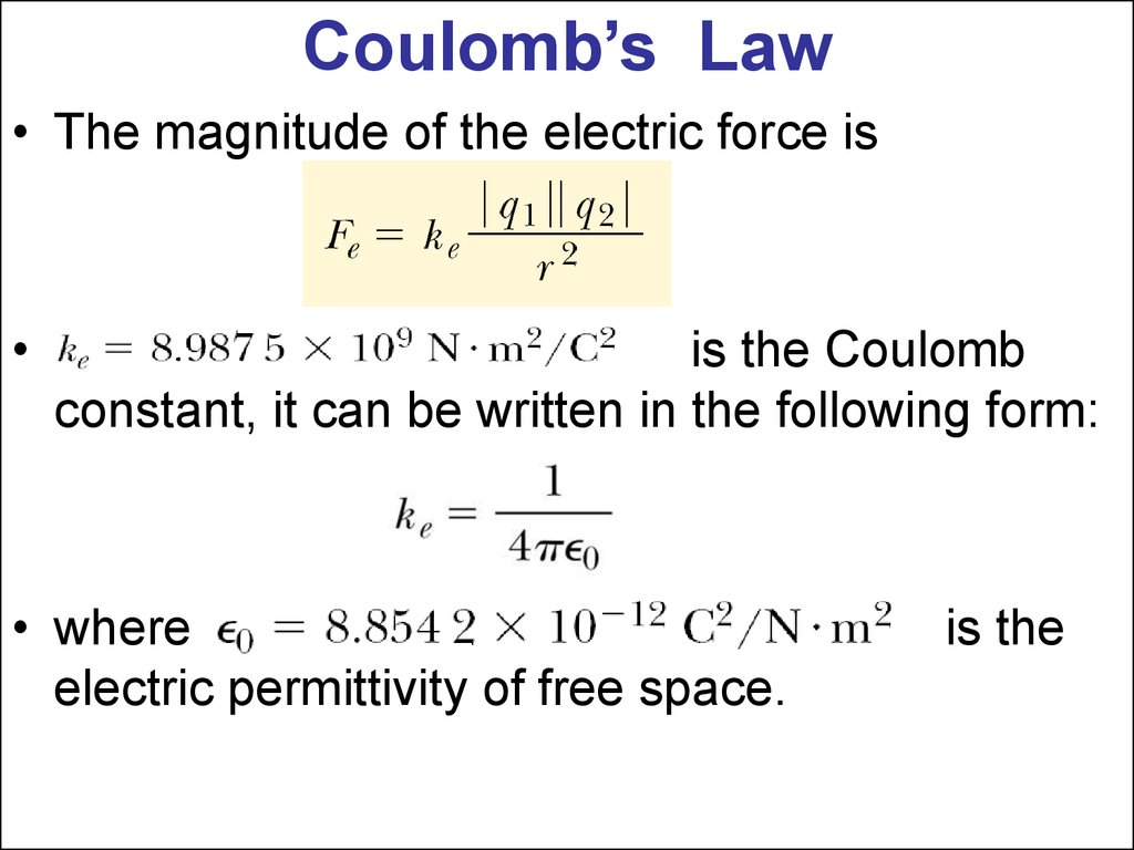 Electric Forces