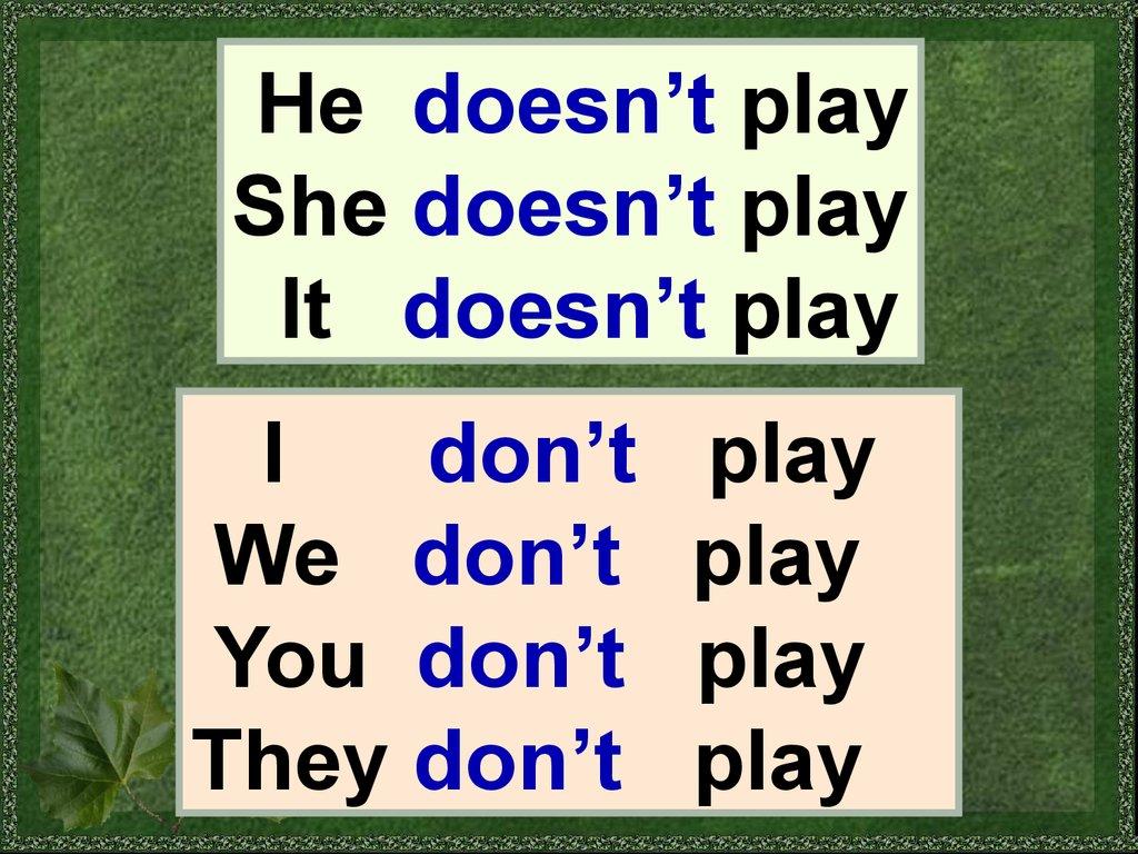 Present Simple Learn The Rule Negative Sentences