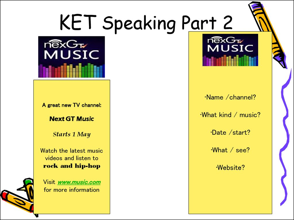 Ket Speaking Test Cards