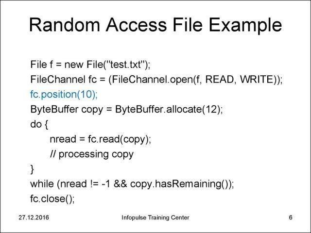 299. Java basic I/O 29. Files - online presentation