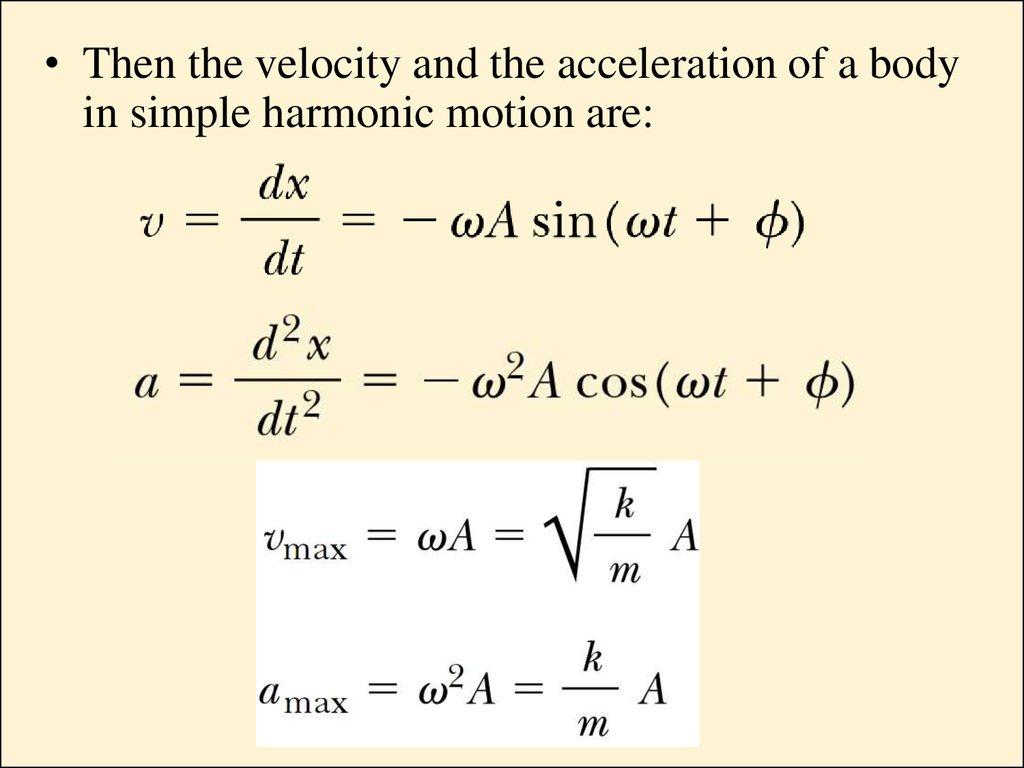 Oscillatory Motion Simple Harmonic Motion The Simple