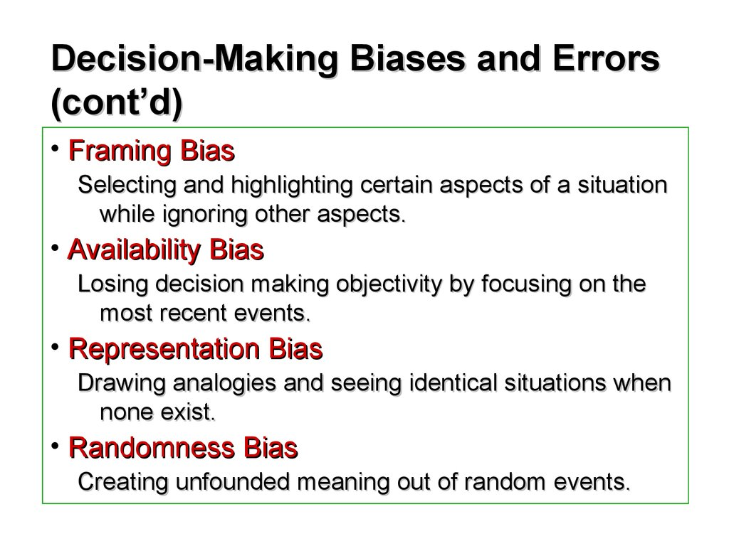 Framing Bias Meaning | Allframes5.org