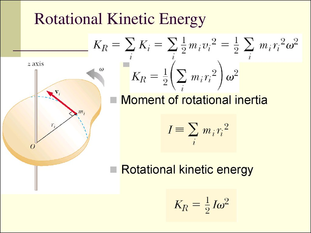 What Is The Equation For Rotational Kinetic Energy