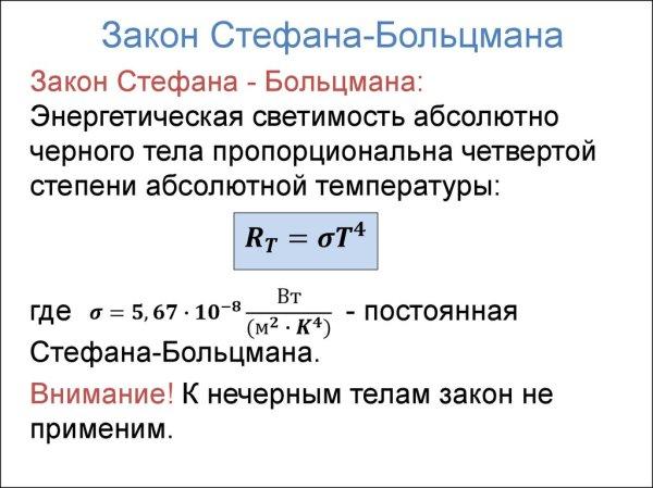 Тепловое излучение. Законы: Кирхгофа, Стефана-Больцмана ...