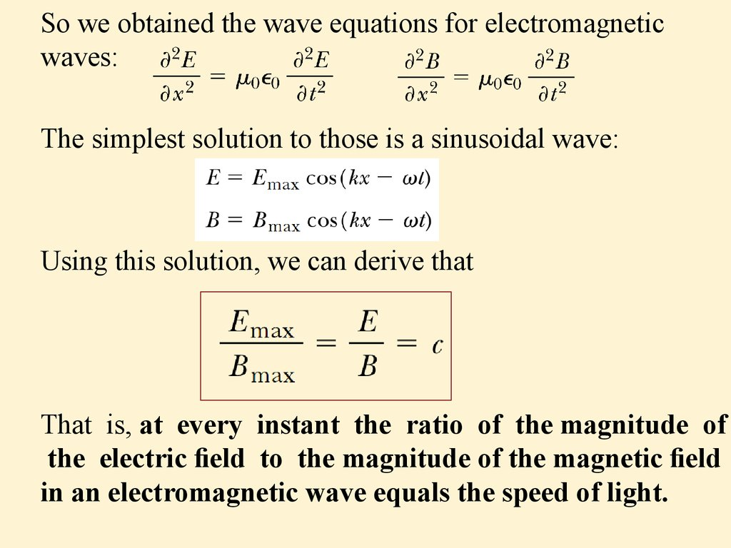 Em Wave Equation Ppt