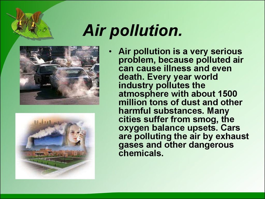 Ecological Problems Pollution And Protection Of Our