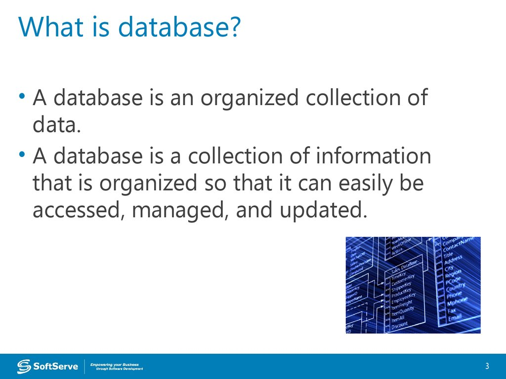 Database Overview презентация онлайн