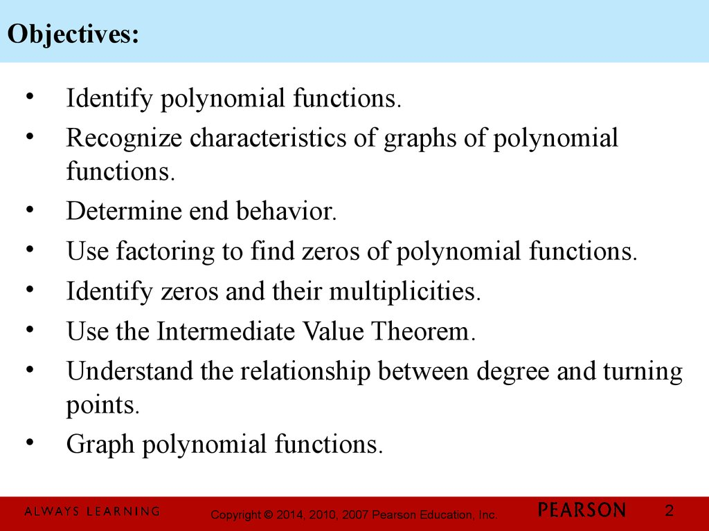 Chapter 3 Polynomial And Rational Functions 3 2