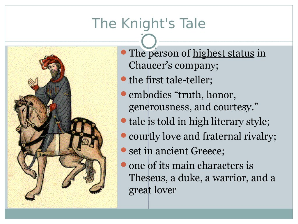 Lecture 2 The Canterbury Tales By Geoffrey Chaucer