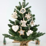 100pcs Christmas Tree Decorations Diy Wooden Hanging Christmas Pendant Ornaments