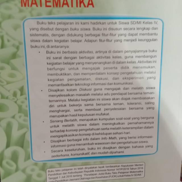 Oleh karena itu di bawah ini akan saya bagikan buku sekolah elektronik bse terbitan kemdikbud khusus untuk pelajaran matematika sd kelas 4. Buku Siswa Matematika Sd Kelas 4 Yuyun Yuliati Shopee Indonesia