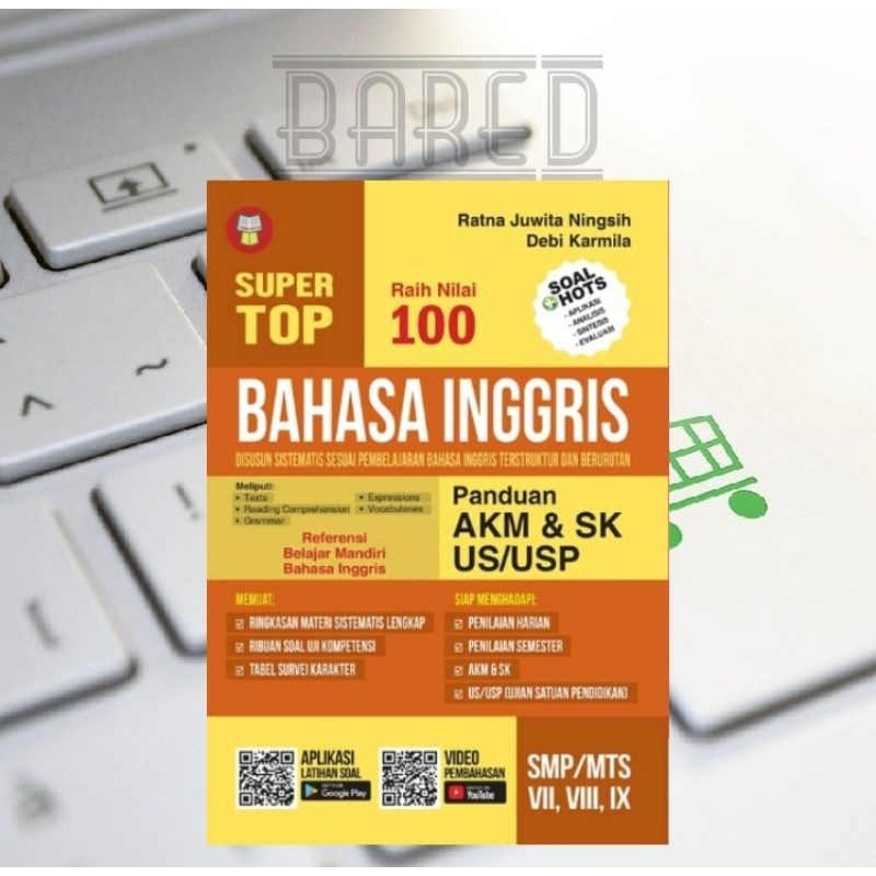 Tersedia ✓ gratis ongkir ✓ pengiriman sampai. Super Top Raih Nilai 100 Bahasa Inggris Panduan Akm Sk Us Usp Smp Kelas 7 8 9 Shopee Indonesia