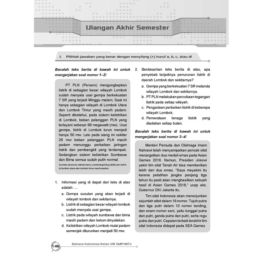 Kkaktri ~ pencarian google search : Buku Pendamping Bahasa Indonesia Smp Mts Kelas 8 Kunci Jawaban Incer Shopee Indonesia