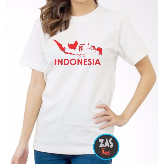Stiker cutting peta indonesia warna merah. Kaos Dewasa Peta Indonesia Merah Putih Shopee Indonesia