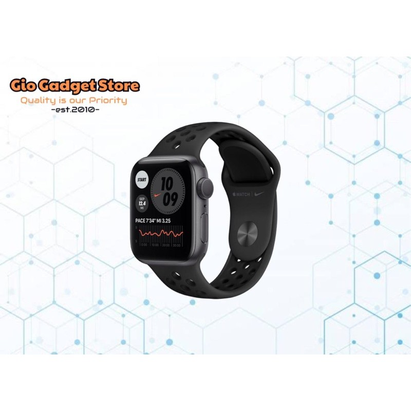 Harga murah di lapak roxyshop sparepart. Apple Watch Series 6 40mm Space Gray With Anthracite Black Nike Band Shopee Indonesia