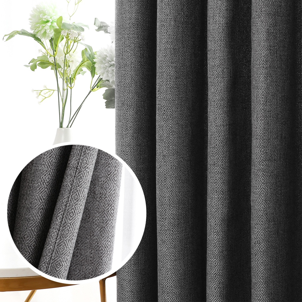 See these inspiring bedroom curtain ideas to take your own design scheme to the next level. Topfinel Modern Blackout Curtain For Living Room Shading Bedroom Custom Made Gray Curtains Solid Co Shopee Indonesia