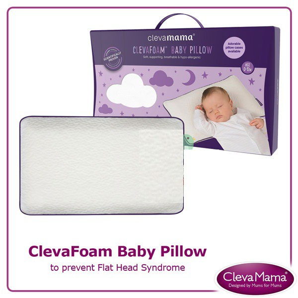 clevamama clevafoam baby pillow bantal bayi