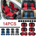14pcs 8 Seater Car Seat Cover Protector Cushion Front Back Full Set Universal Interior Accessories Shopee Brasil