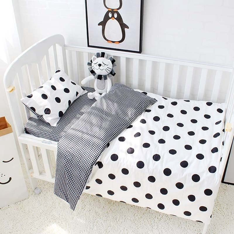 3pcs set baby bedding set cotton baby bed sheet baby cot bedding set baby pillow case crib bedding duvet cover