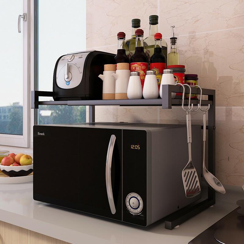 readystock kitchen retractable microwave oven rack oven rack 2 layer kitchen storage rack ikea shelf