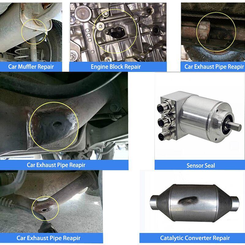 exhaust system pipe repair kit high temperature to cement crack sealer tailpipe muffler repair adhesive sealant