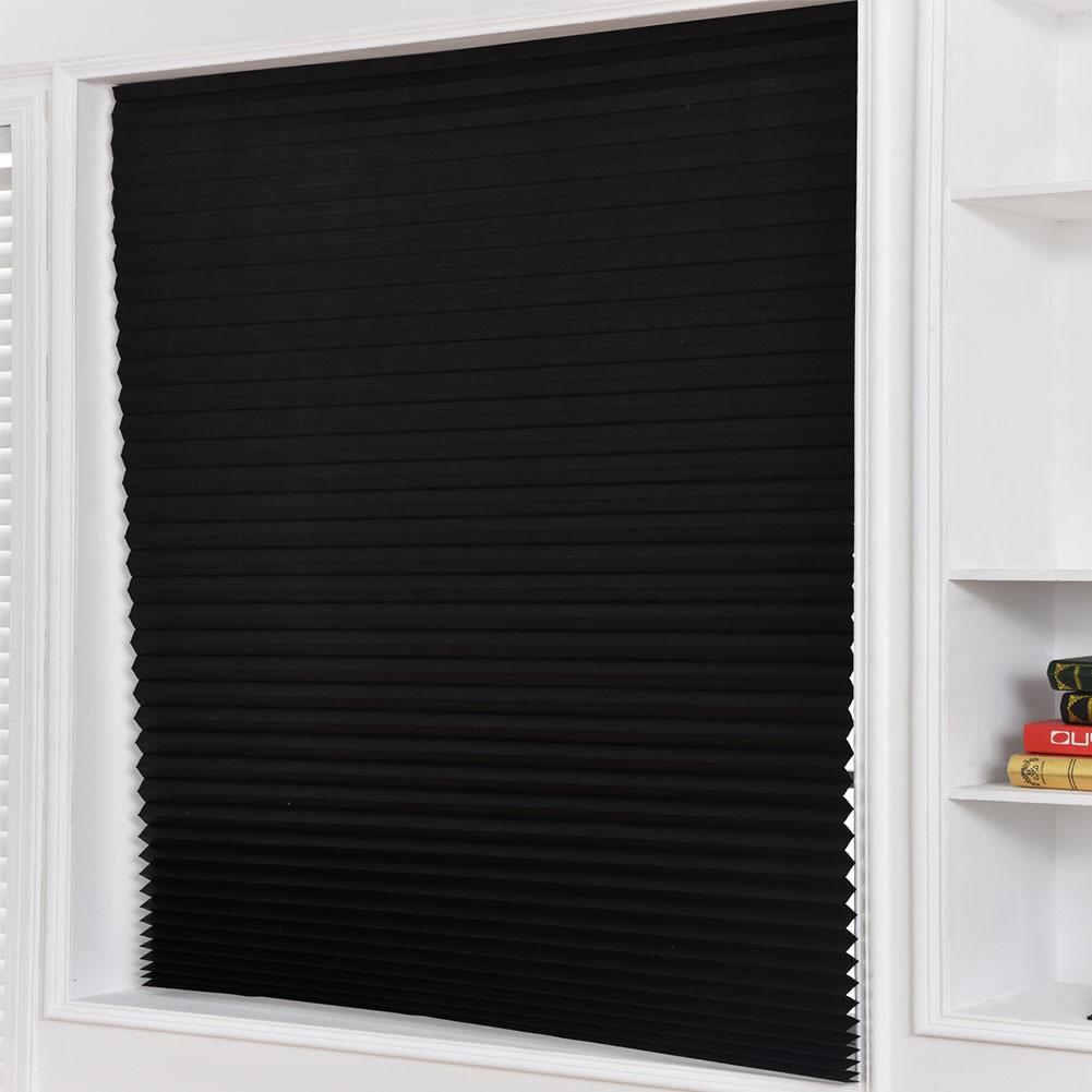 pleated shade darkening kitchen bathroom privacy window door curtain blind