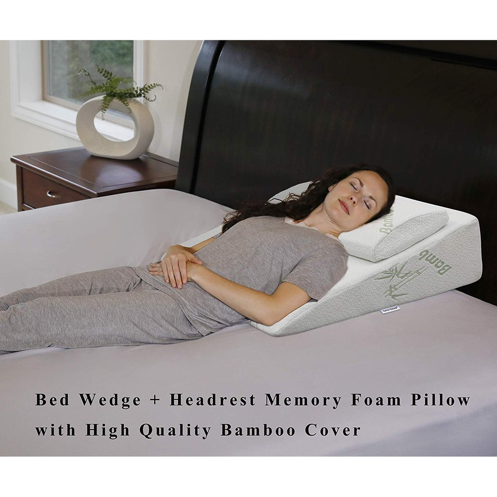 intevision foam bed wedge pillow 26 x 25 x 7 5