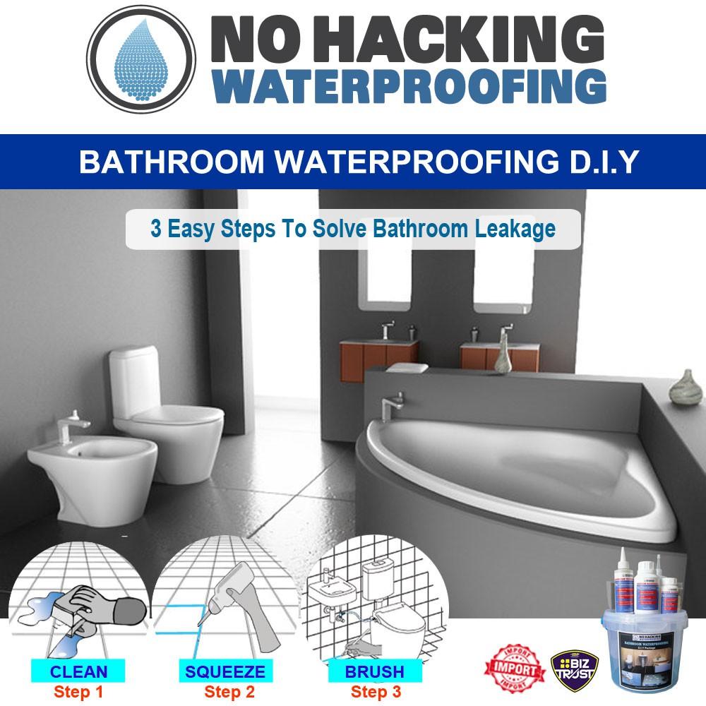 floor waterproofing penetration sealer diy set bathroom tile slab