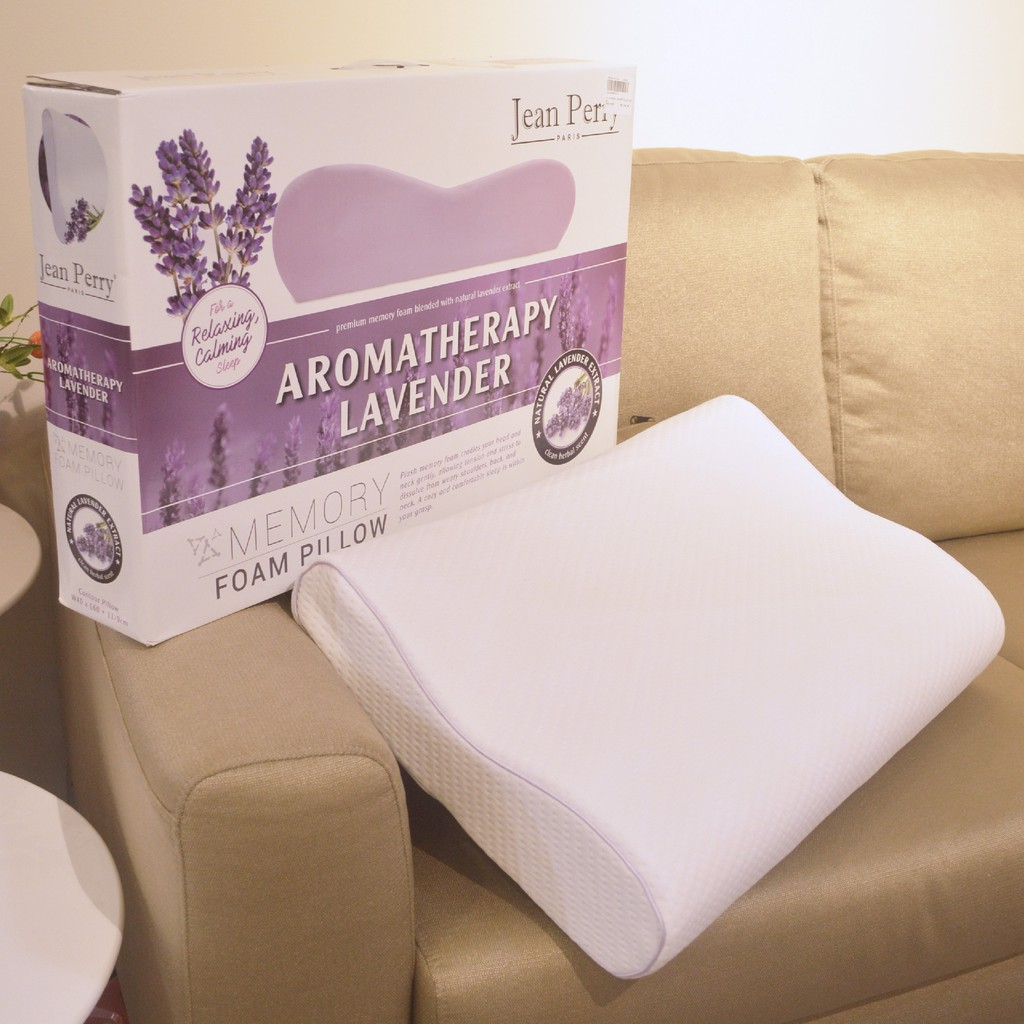 jean perry aromatherapy lavender memory foam pillow collection