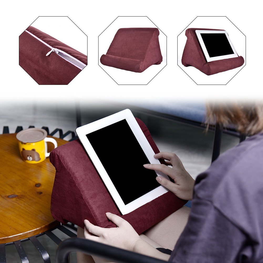 multi angle soft pillow pad stand for ipad tablet phone