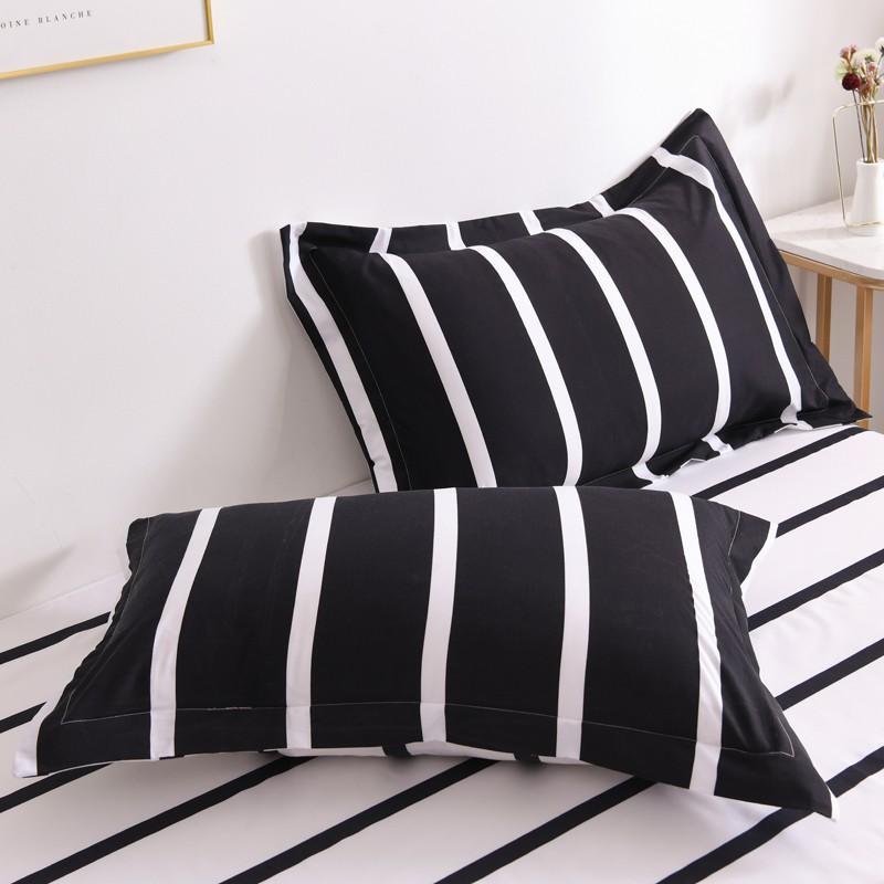 1 pc sarung bantal cadar bed pillow cover pillowcase simple design 48 74cm 18 29inch