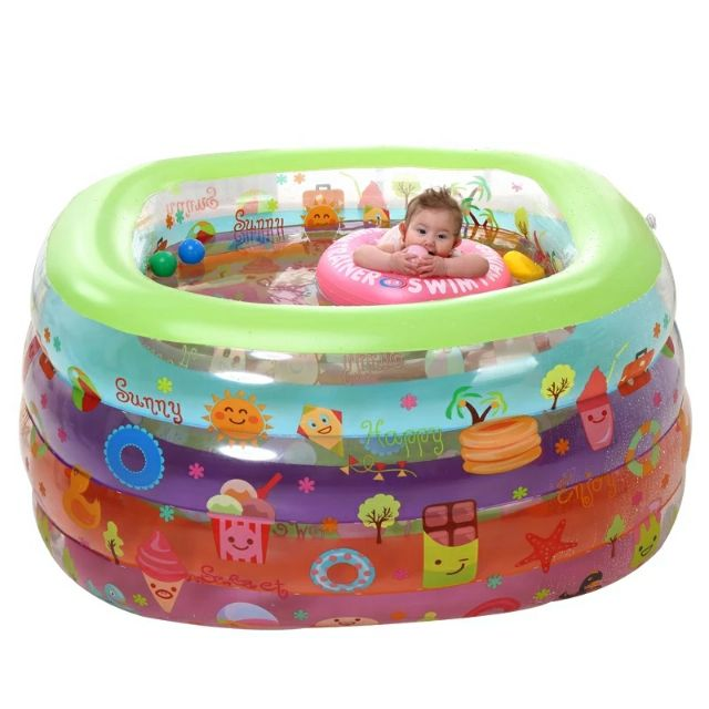 Baby Inflatable Bathtub Mini Swimming Pool Baby SPA Bath Tub Kid Ball Pool Shopee Malaysia