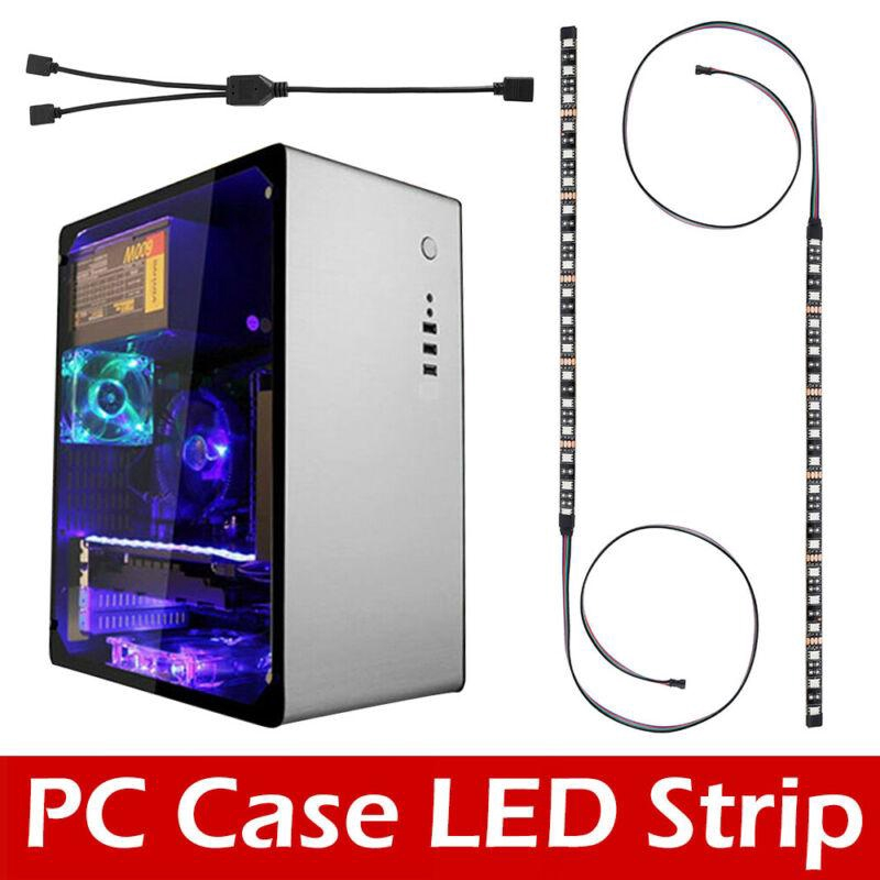 relax love gaming pc case light kit rgb led strip remote control for asus aura mid tower