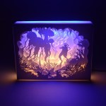 3d Shadow Led Night Light Papercut Light Box Table Lamp Decor Sea World Shopee Malaysia