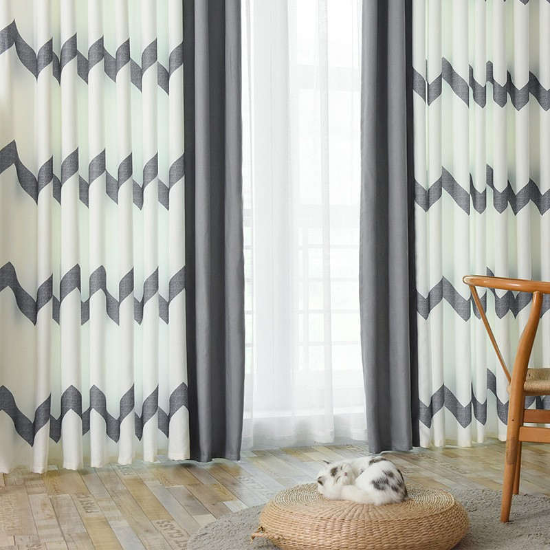kitchen curtains doors for living room modern nordic bedroom blackout curtains window curtain drapes