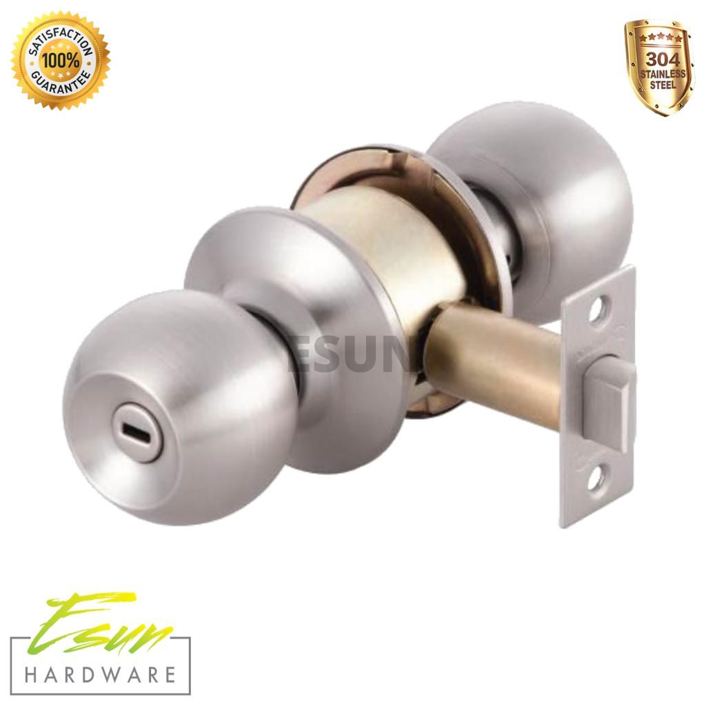 Syngress Bathroom Stainless Steel Cylindrical Brass Door Knob Lock No Key Backset 70mm 60mm Shopee Malaysia