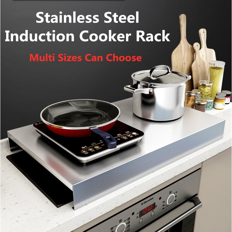 stainless steel induction cooker rack kitchen storage rack gas stove protective cover