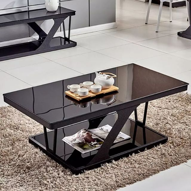 coffee table simple modern tempered glass coffee table living room home small