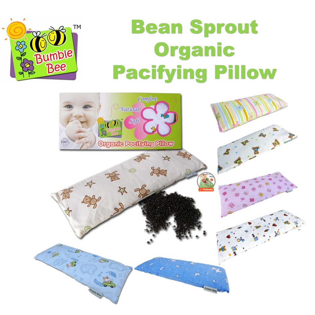 bumble bee bean sprout organic pacifying pillow knit fabric